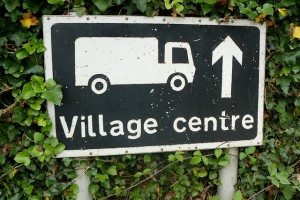 Photo of village centre signpost