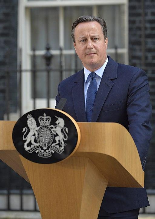 David Cameron outside number 10